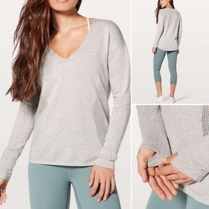 NWOT Lululemon Still Movement Sweater Grey Nimbus